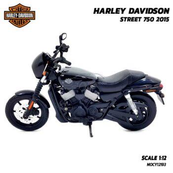 โมเดลฮาเล่ย์ HARLEY DAVIDSON STREET 750 2015 สีดำ (1:12) โมเดลจำลองเหมือนจริง
