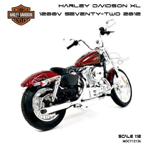 โมเดลฮาเล่ย์ HARLEY XL 1200V SEVENTY TWO 2012 (Scale 1:12) ผลิตโดย Maisto