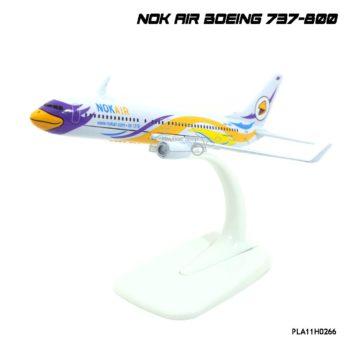โมเดลเครื่องบิน นกแอร์ NOK AIR Boeing 737-800 สีขาวเหลือง รุ่นขายดี