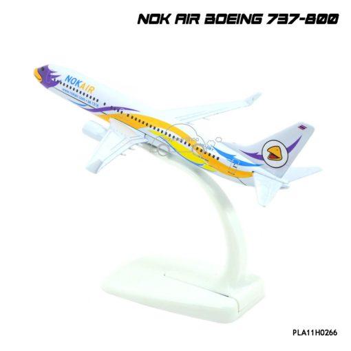 โมเดลเครื่องบิน นกแอร์ NOK AIR Boeing 737-800 สีขาวเหลือง ตัวลำทำจาเหล็กอย่างดี
