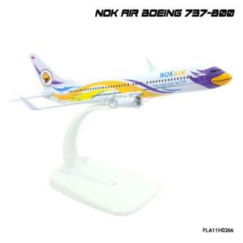 โมเดลเครื่องบิน นกแอร์ NOK AIR Boeing 737-800 สีขาวเหลือง สีสวย น่าสะสม