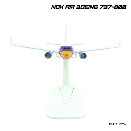โมเดลเครื่องบิน นกแอร์ NOK AIR Boeing 737-800 สีขาวเหลือง โมเดลเครื่องบินเหล็ก