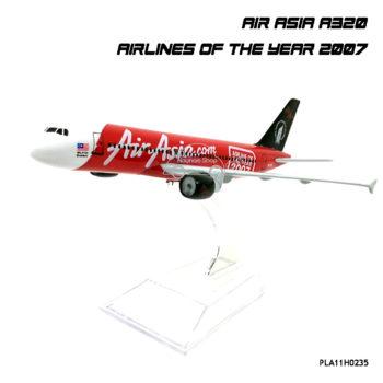 โมเดลเครื่องบิน แอร์เอเชีย AIRASIA A320 AIRLINE OF THE YEAR 2007 พร้อมฐาน