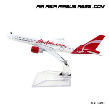โมเดลเครื่องบิน AIR ASIA AIRBUS A320 .Com