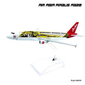 โมเดลเครื่องบิน AIR ASIA AIRBUS A320 ลายเสือ โมเดลเครื่องบินเหล็กราคาถูก