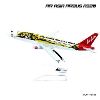 โมเดลเครื่องบิน AIR ASIA AIRBUS A320 ลายเสือ พร้อมฐานวางตั้งโชว์