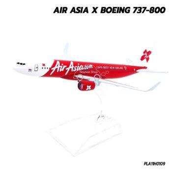 โมเดลเครื่องบิน AIRASIA X Boeing 737-800 จำลองเหมือนจริง