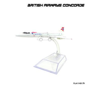 โมเดลเครื่องบินเหล็ก British Airways Concorde ตัวลำทำจากเหล็ก