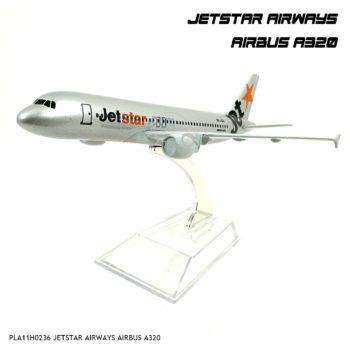 โมเดลเครื่องบิน JETSTAR AIRWAYS AIRBUS A320 สีเงิน