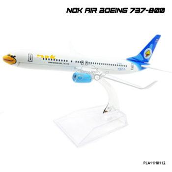 โมเดลเครื่องบิน นกแอร์ สีฟ้าขาว ฺB737-800