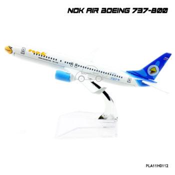 โมเดลเครื่องบิน นกแอร์ สีฟ้าขาว Boeing 737-800