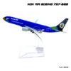 โมเดลเครื่องบิน นกแอร์ สีน้ำเงิน