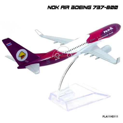 โมเดลเครื่องบิน นกแอร์ สีม่วง เหมือนจริง