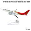 โมเดลเครื่องบิน SHENZHEN AIRLINES Boeing 737-800