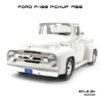 โมเดลรถกระบะ FORD F-100 PICKUP 1956 สีขาว (1:24)