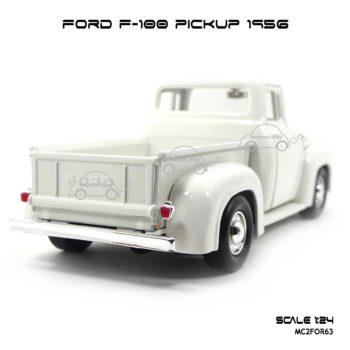 โมเดลรถกระบะ FORD F-100 PICKUP 1956 สีขาว (1:24) ท้ายรถสวยๆ
