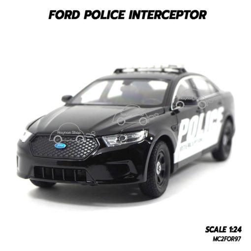โมเดลรถตำรวจ FORD POLICE INTERCEPTOR สีดำ (1:24)