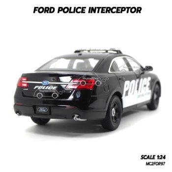 โมเดลรถตำรวจ FORD POLICE INTERCEPTOR สีดำ (1:24) โมดลจำลองเหมือนจริง