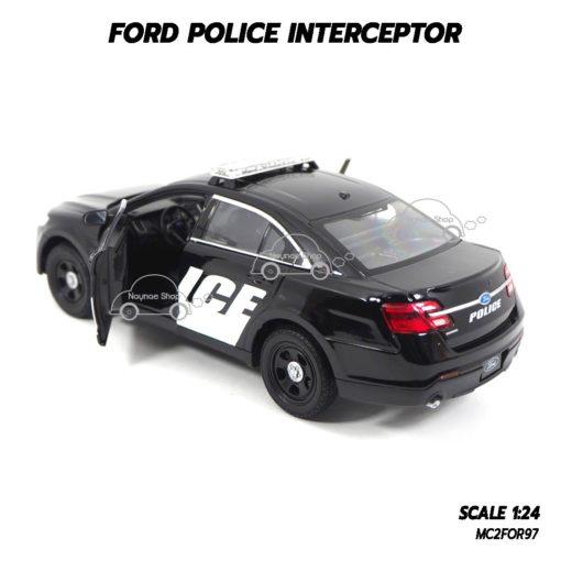 โมเดลรถตำรวจ FORD POLICE INTERCEPTOR สีดำ (1:24) รถเหล็กของแท้ ราคาถูก