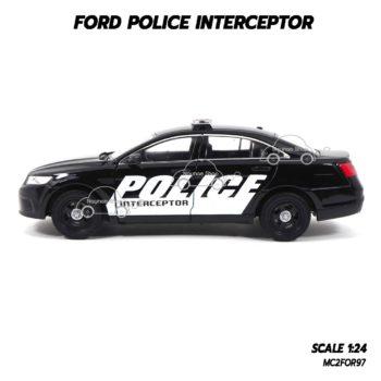 โมเดลรถตำรวจ FORD POLICE INTERCEPTOR สีดำ (1:24) ลายสวยเหมือนรถจริง