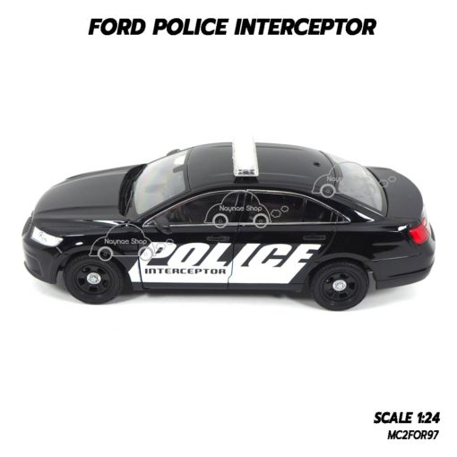 โมเดลรถตำรวจ FORD POLICE INTERCEPTOR สีดำ (1:24) โมเดลประกอบสำเร็จ