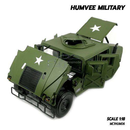 โมเดลรถทหาร HUMVEE MILITARY (Scale 1:18) เปิดได้ครบ