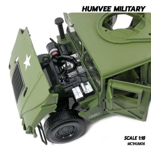 โมเดลรถทหาร HUMVEE MILITARY (Scale 1:18) เครื่องยนต์จำลองสมจริง