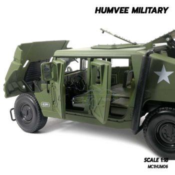 โมเดลรถทหาร HUMVEE MILITARY (Scale 1:18) ภายในรถจำลองสมจริง