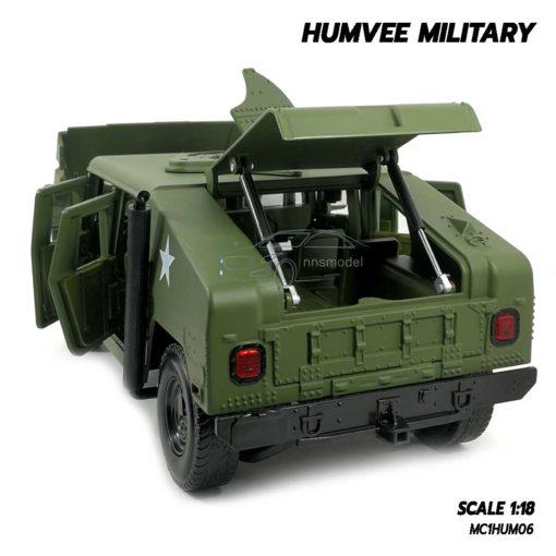 โมเดลรถทหาร HUMVEE MILITARY (Scale 1:18) เปิดฝากระโปรงท้ายรถได้