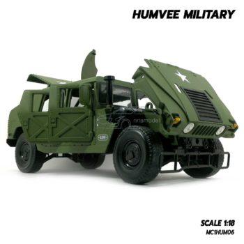 โมเดลรถทหาร HUMVEE MILITARY (Scale 1:18) เปิดฝากระโปรงหน้าได้