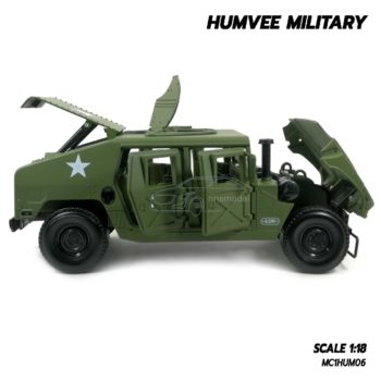 โมเดลรถทหาร HUMVEE MILITARY (Scale 1:18) รถเหล็กจำลองเหมือนจริง พร้อมตั้งโชว์