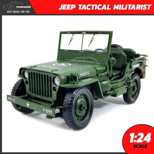 โมเดลรถทหาร JEEP TACTICAL MILITARIST (Scale 1:24)
