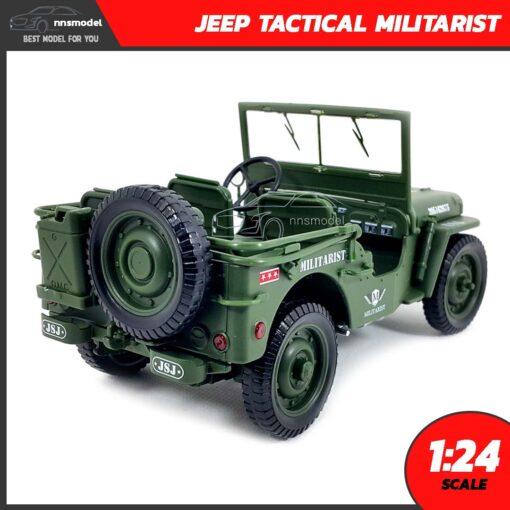 โมเดลรถทหาร JEEP TACTICAL MILITARIST (Scale 1:24) โมเดลรถเหล็กจำลองสมจริง