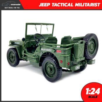 โมเดลรถทหาร JEEP TACTICAL MILITARIST (Scale 1:24) โมเดลรถเหล็ก พร้อมตั้งโชว์