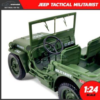 โมเดลรถทหาร JEEP TACTICAL MILITARIST (Scale 1:24) โมเดลรถเหล็ก ภายในรถจำลองสมจริง