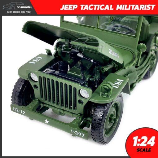 โมเดลรถทหาร JEEP TACTICAL MILITARIST (Scale 1:24) โมเดลรถสะสม
