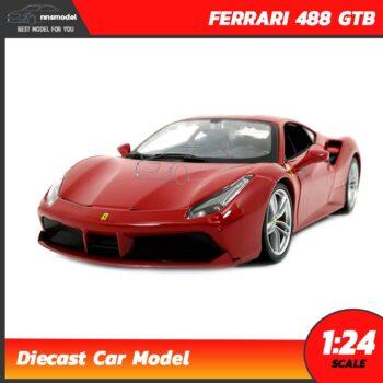 โมเดลรถ เฟอร์รารี่ FERRARI 488 GTB สีแดง (1:24)
