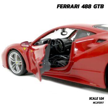โมเดลรถ เฟอร์รารี่ FERRARI 488 GTB (Scale 1:24) ภายในรถจำลองเหมือนจริง