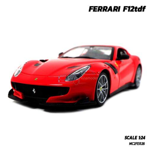 โมเดลรถ เฟอร์รารี่ FERRARI F12tdf (Scale 1:24) รถเหล็ก ประกอบสำเร็จ พร้อมตั้งโชว์