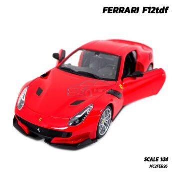 โมเดลรถ เฟอร์รารี่ FERRARI F12tdf (Scale 1:24) รถเหล็กโมเดล เปิดประตูรถซ้ายขวาได้