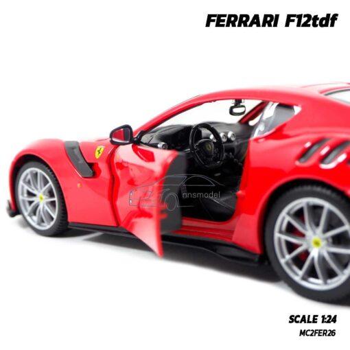 โมเดลรถ เฟอร์รารี่ FERRARI F12tdf (Scale 1:24) รถเหล็กโมเดล ภายในรถจำลองสมจริง