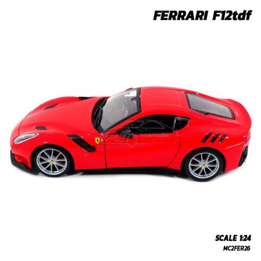 โมเดลรถ เฟอร์รารี่ FERRARI F12tdf (Scale 1:24) รถโมเดลเฟอร์รารี่แท้ พร้อมฐานวางตั้งโชว์