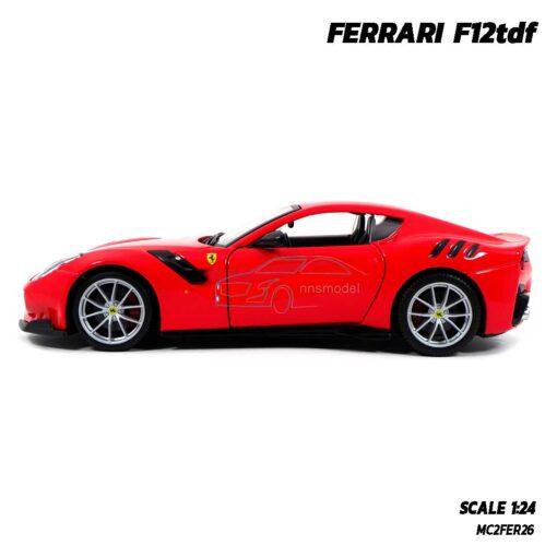 โมเดลรถ เฟอร์รารี่ FERRARI F12tdf (Scale 1:24) รถโมเดลเฟอร์รารี่แท้ พร้อมฐานวางตั้งโชว์ และกล่องแพคเกจ