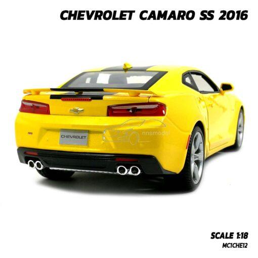 โมเดลรถ CHEVROLET CAMARO SS 2016 สีเหลือง (Scale 1:18) รถเหล็กโมเดลจำลอง