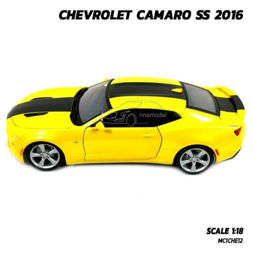 โมเดลรถ CHEVROLET CAMARO SS 2016 สีเหลือง (Scale 1:18) โมเดลรถเหล็ก Diecast Model Maisto