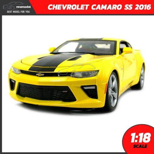 โมเดลรถ CHEVROLET CAMARO SS 2016 สีเหลือง (Scale 1:18)