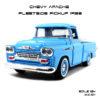โมเดลรถ CHEVY APACHE FLEETSIDE PICKUP 1958 สีฟ้า
