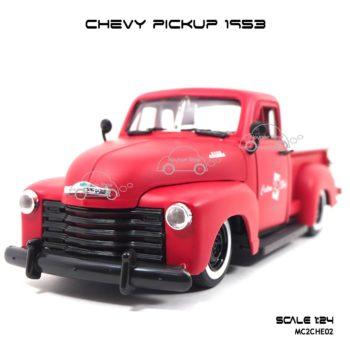 โมเดลรถ CHEVY PICKUP 1953 สีแดง (Scale 1:24)