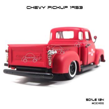 โมเดลรถ CHEVY PICKUP 1953 สีแดง (Scale 1:24) ท้ายงามๆ