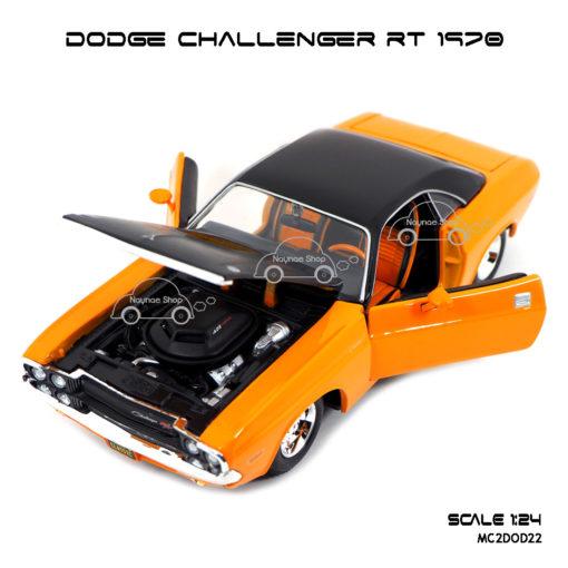 โมเดลรถ DODGE CHALLENGER RT 1970 (1:24) เปิดได้ครบ